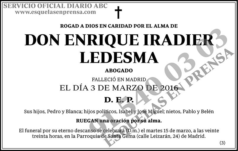 Enrique Iradier Ledesma